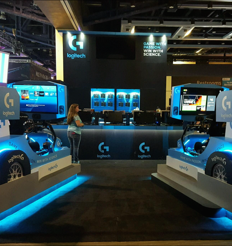 Logitech And Studio Blue Collaborate At Gaming Event